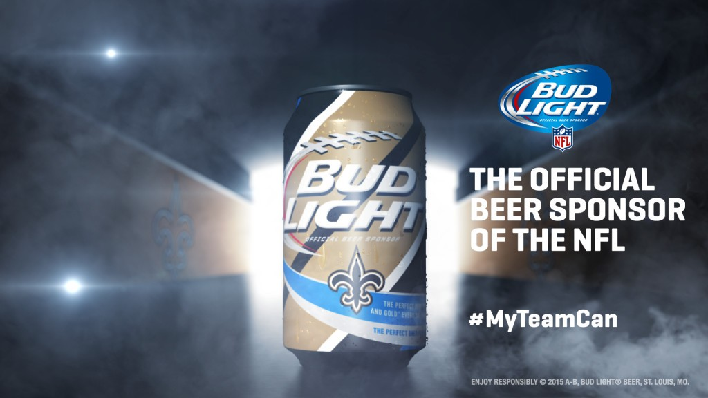 New Orleans Saints Bud Light-Can
