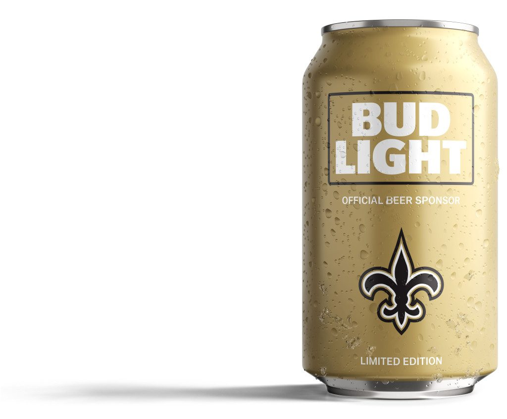Bud Light Saints Can