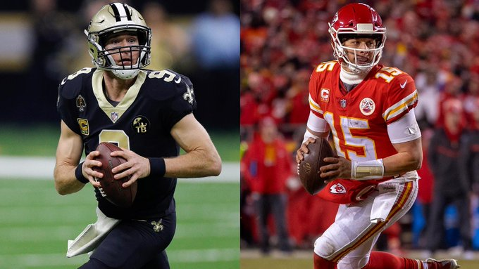 Saints QB Drew Brees Finishes Second to Chiefs QB Pat Mahomes in NFL MVP Voting